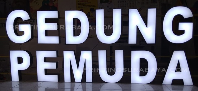 Printing Surabaya Letter Timbul