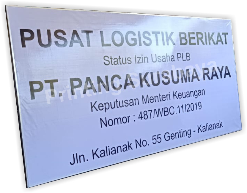 Papan Nama - Surabaya